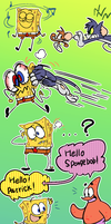 tom and jerry in spongebob body! by EZstrongs