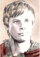 Bradley James mini-portrait by whu-wei