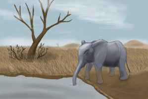 Elephant drawing. by Mistling