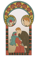 Art Nouveau Wedding by Silvre