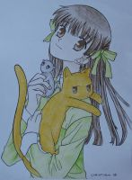 Fruits Basket - Tohru Kyo Yuki by mew-christiana