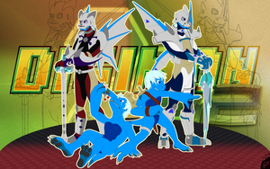 Polar lineage (flatcolor) | Digimon G2 by G3Drakoheart-Arts