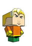 Aquaman cubeecraft 3D-model by JagaMen