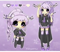 Adoptable Auction: Lavender Deer [CLOSED] by megiemu