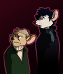 Martin Freemouse and Benedict Cumberrat by TopHatTurtle