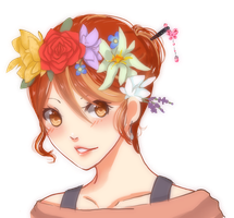 Flower Crown Selfie! by Monksea