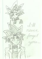 Yugi and Atem, the Pharoah by odette115
