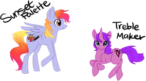 Sunset Palette and Treble Maker by Nixhil