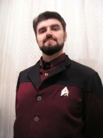 Steampunk Commander Riker by TreeVor