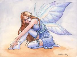 Fairy in Blue Stockings by Wenchworks