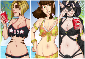 Girls of summer by ValDeCreez