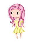 Fluttershy Pixel Baby by Candycide