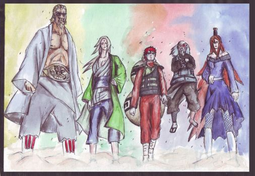 5 Kages by TheLastParanoid