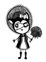 Gothic and Lolita Kitty by SpiralHumanity