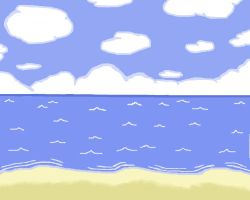 Beach by Solidishness