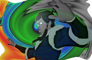 LOK - Korra in the Avatar State Color by Furyhero