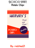 BioShock Infinite HARVAY'S Potato Chips Label by redsteal21