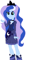 Princess Luna in EqG My Version by NightmareLunaFan