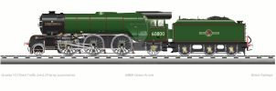 British Railways 60800 Green Arrow V2 by Daxserv