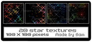 20 Star Textures by ICouldntThinkOfAName