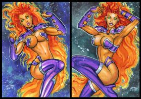 STARFIRE PERSONAL SKETCH CARDS by AHochrein2010