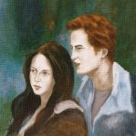 Edward and Bella In The Woods by LittleSeaSparrow