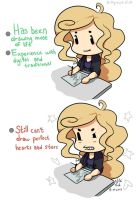 Hashtag 'Artist Problems' by KittyCouch