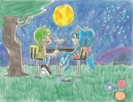 (Gift:) A Date?! Beneath the Moonlight by Koopakrusher
