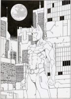 Batman Beyond Line Art by Dtronaustin