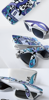 Panda Wayfarer sunglasses and Iphone case by Ketchupize