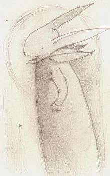 Rabbit in Leaf Collared Robe by SethFitts