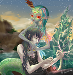 Helia and Sirena by Lonome