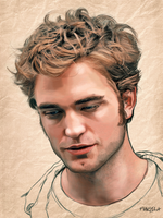 robert pattinson by fungila