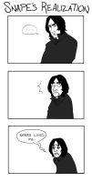 Snape's Realization by captainashletART