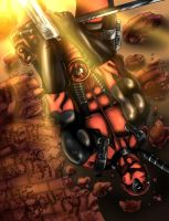 Deadpool in awesome color! by MarcDaArtist