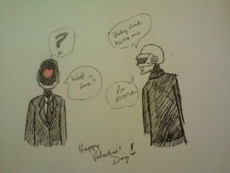 Robot Cuties - Valentine's Day 2014 by NightSongWriter