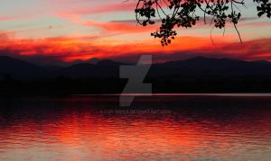 Forest fire sunset 4 by Luv-ar15s