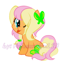 My adorbs AppleShy foal by sparkIinq