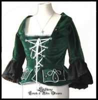 Emerald 'goth'-rococo jacket by Stahlrose