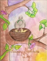 Mothers Day Card by bugsythepigeon