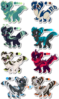 [ONE LEFT] Unnatural Canines SET 1 by Roqe-Adopts