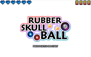 Rubber Skull Ball by Volcanic-Penguin