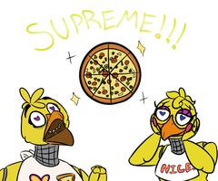 Favorite pizza? SUPREME!!! by dompteuseArtist