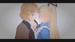 Fem!UsUk - Kissing [Magnet Yuri MMD video] by YamiMana