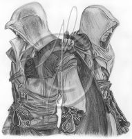 Altair and Ezio by BuckleWinner