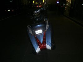 motorcycle at night 5 by LuchareStock