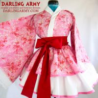 Pink Sakura Cosplay Kimono Dress by DarlingArmy