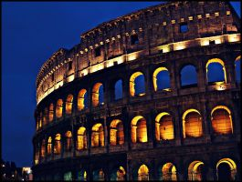 Coloseum at night III by Csipesz