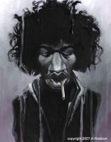 Jimi Hendrix 2 by waldron1