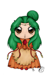 Elincia Fire Emblem Chibi - lineart color by FaylinaMeir